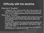 difficulty with the doctrine