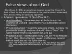 false views about god
