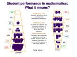 student performance in mathematics what it means