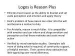 logos is reason plus
