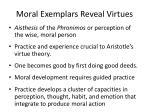 moral exemplars reveal virtues