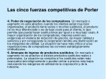 las cinco fuerzas competitivas de porter14