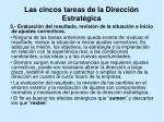 las cincos tareas de la direcci n estrat gica11