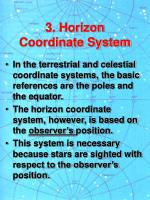 3 horizon coordinate system