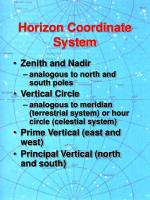 horizon coordinate system