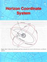 horizon coordinate system12