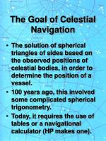 the goal of celestial navigation