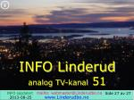 info linderud analog tv kanal 51