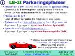 lb ii parkeringsplasser