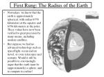 first rung the radius of the earth