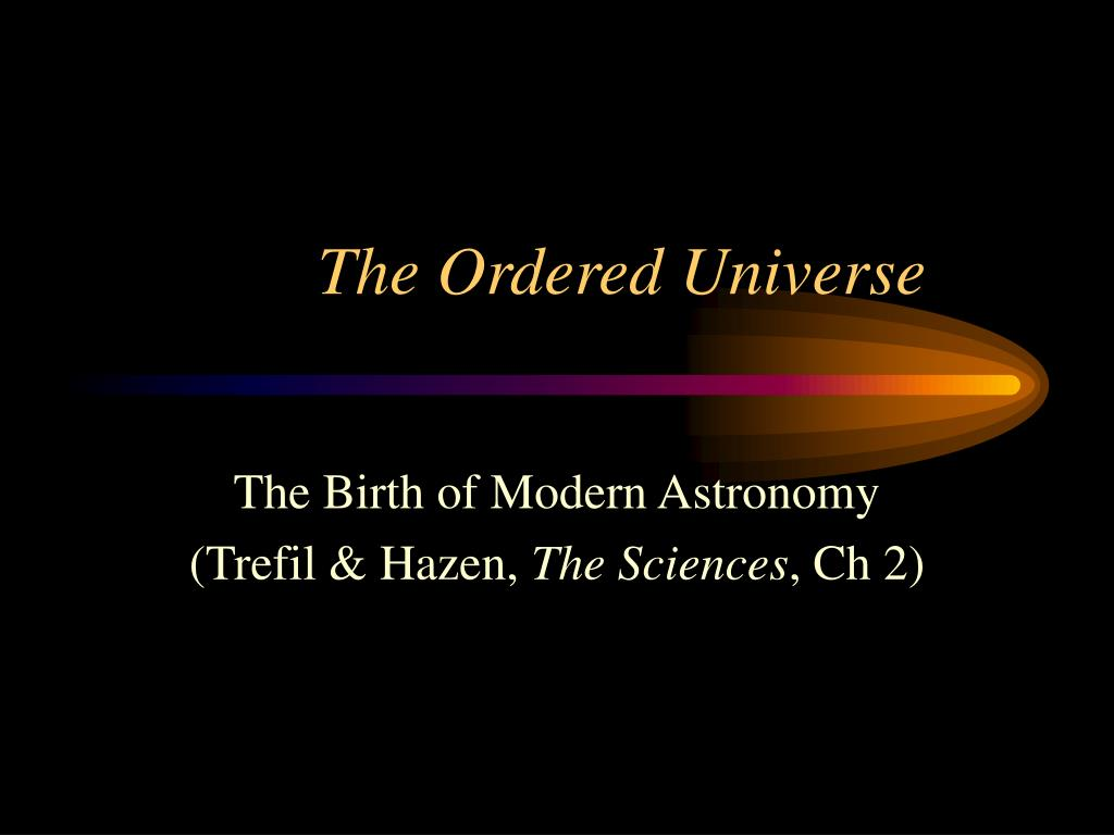 the ordered universe l.