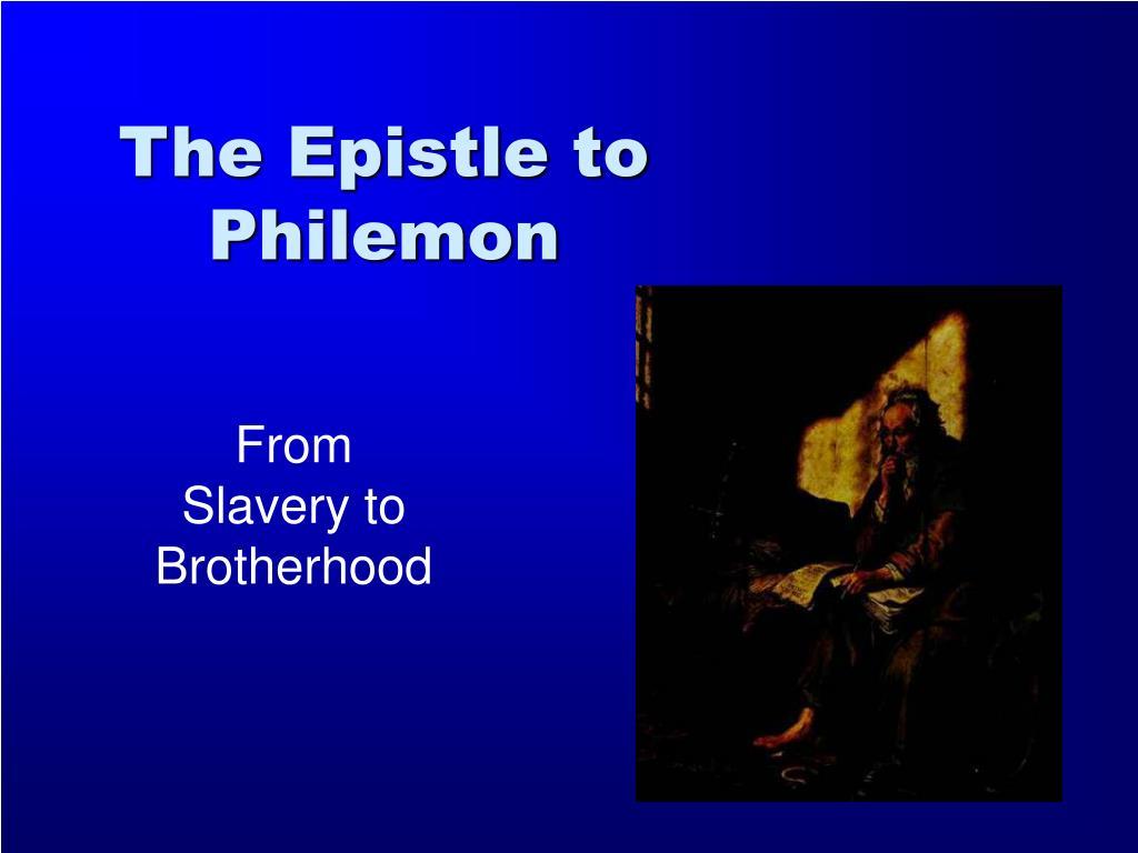 the epistle to philemon l.