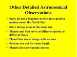 other detailed astronomical observations