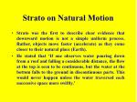 strato on natural motion