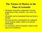 the nature of matter at the time of aristotle