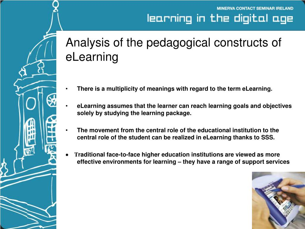 Analysis of the pedagogical constructs of eLearning