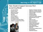 new student support services rich elearning model