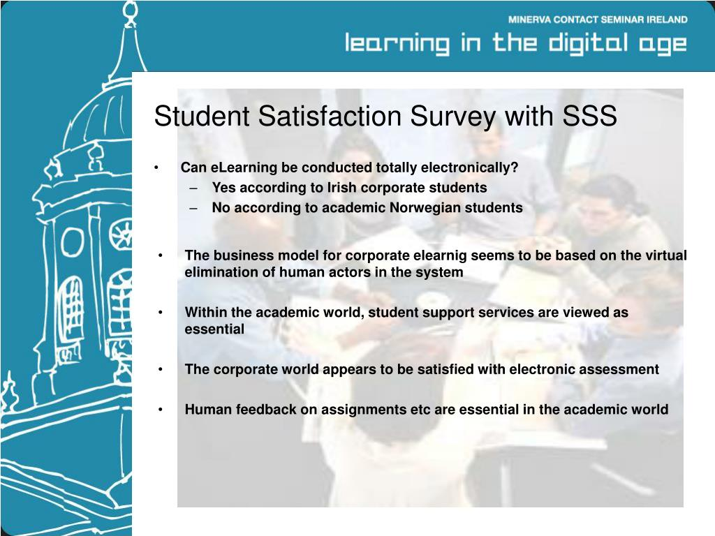 Student Satisfaction Survey with SSS