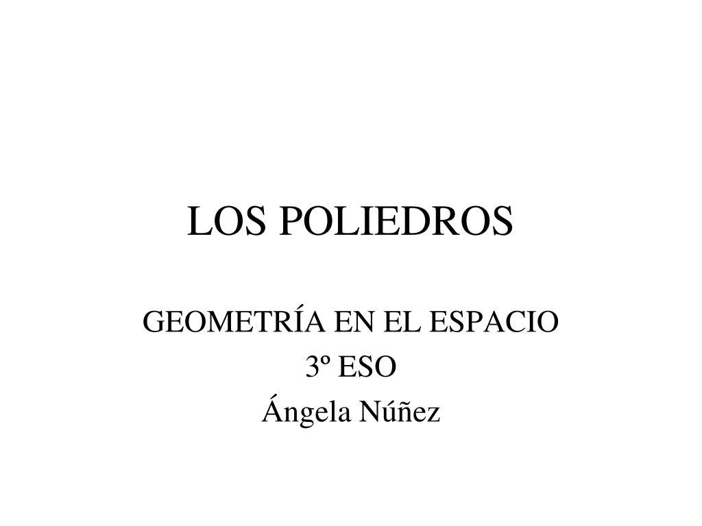 los poliedros l.