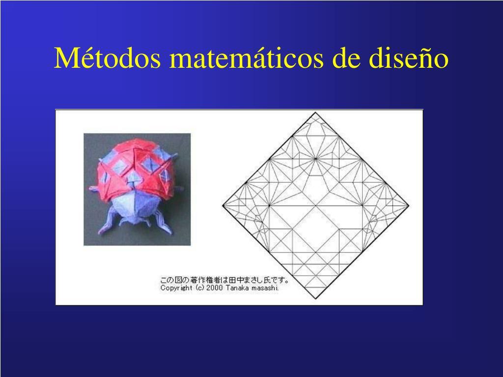 Métodos matemáticos de diseño