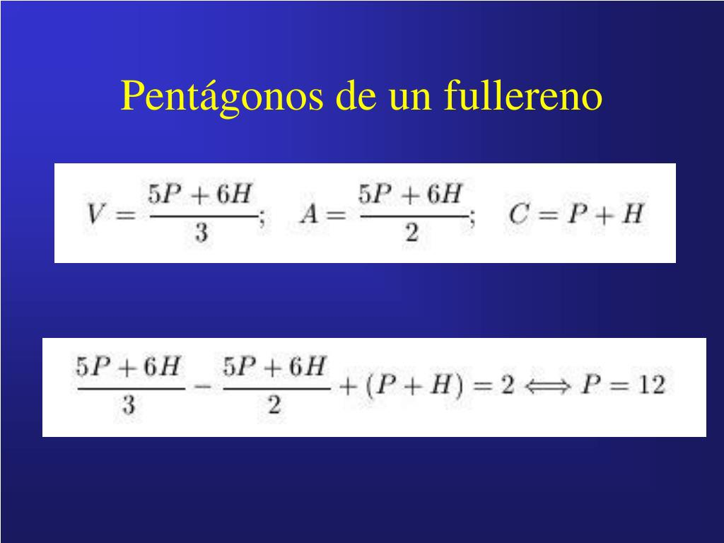 Pentágonos de un fullereno