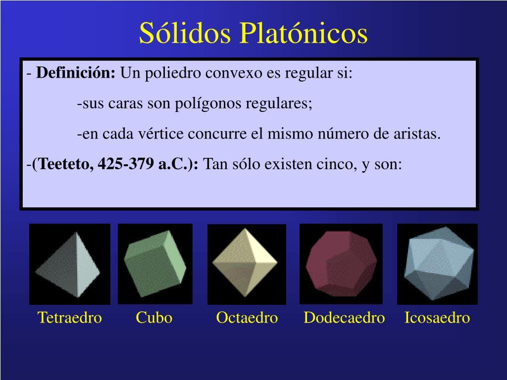 Sólidos Platónicos