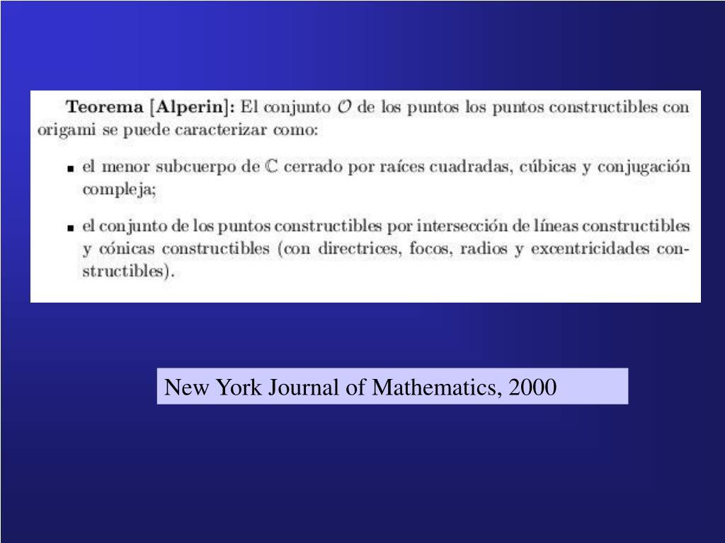 New York Journal of Mathematics, 2000