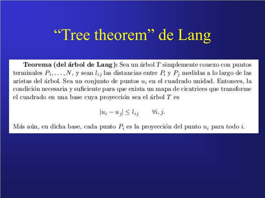 """Tree theorem"" de Lang"