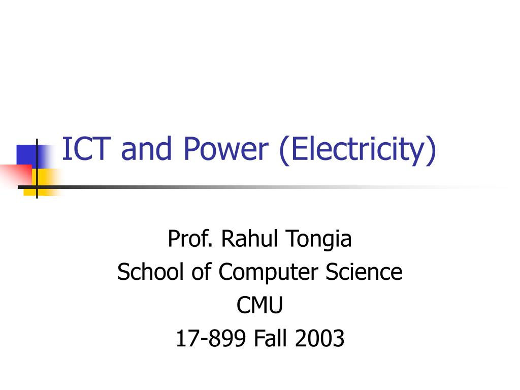 ict and power electricity l.