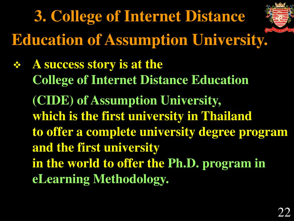 3. College of Internet Distance