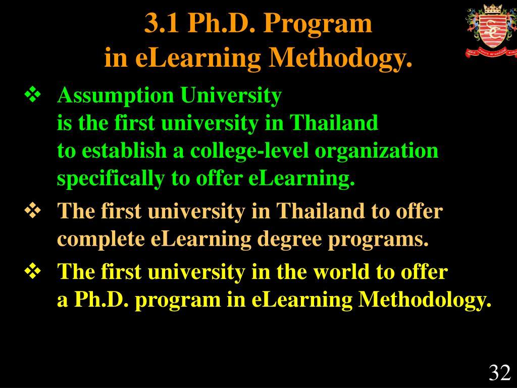 3.1 Ph.D. Program