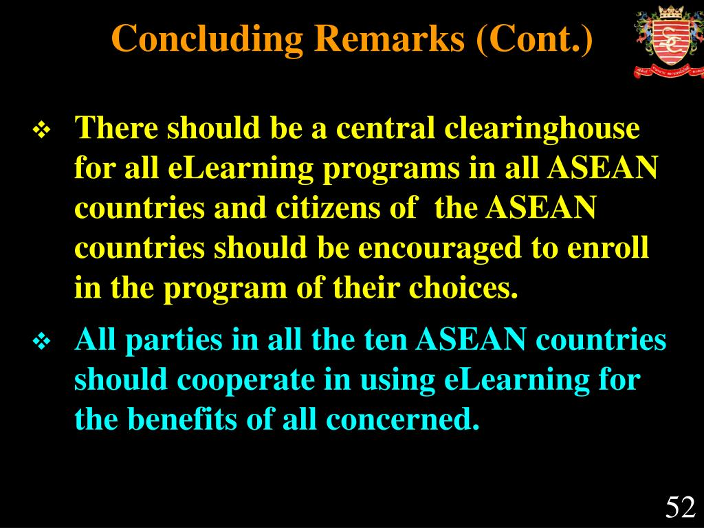 Concluding Remarks (Cont.)