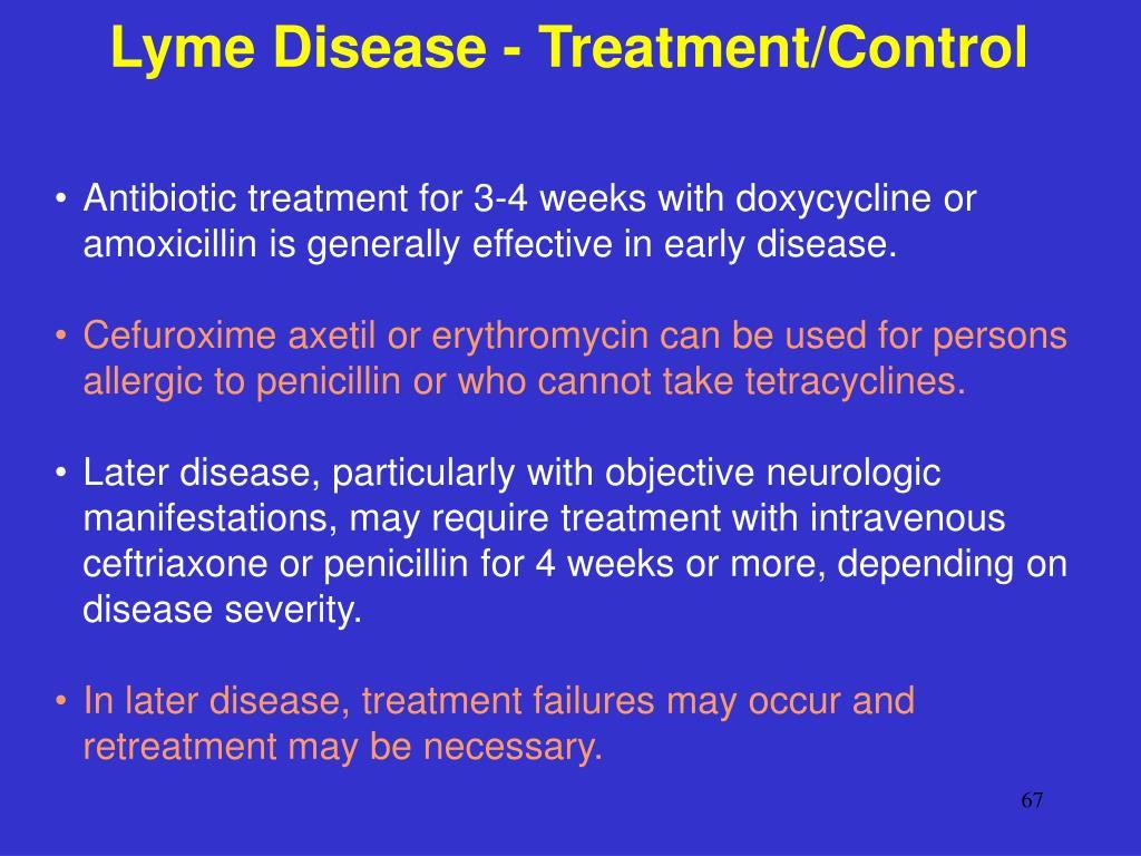 Lyme Disease - Treatment/Control