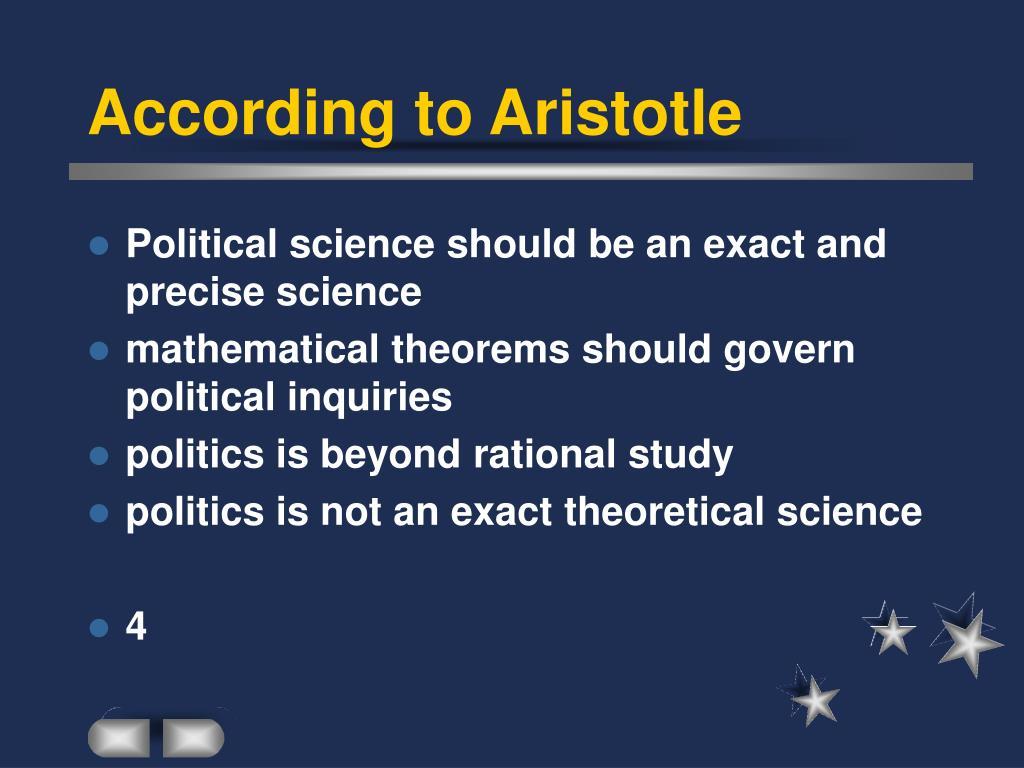 According to Aristotle