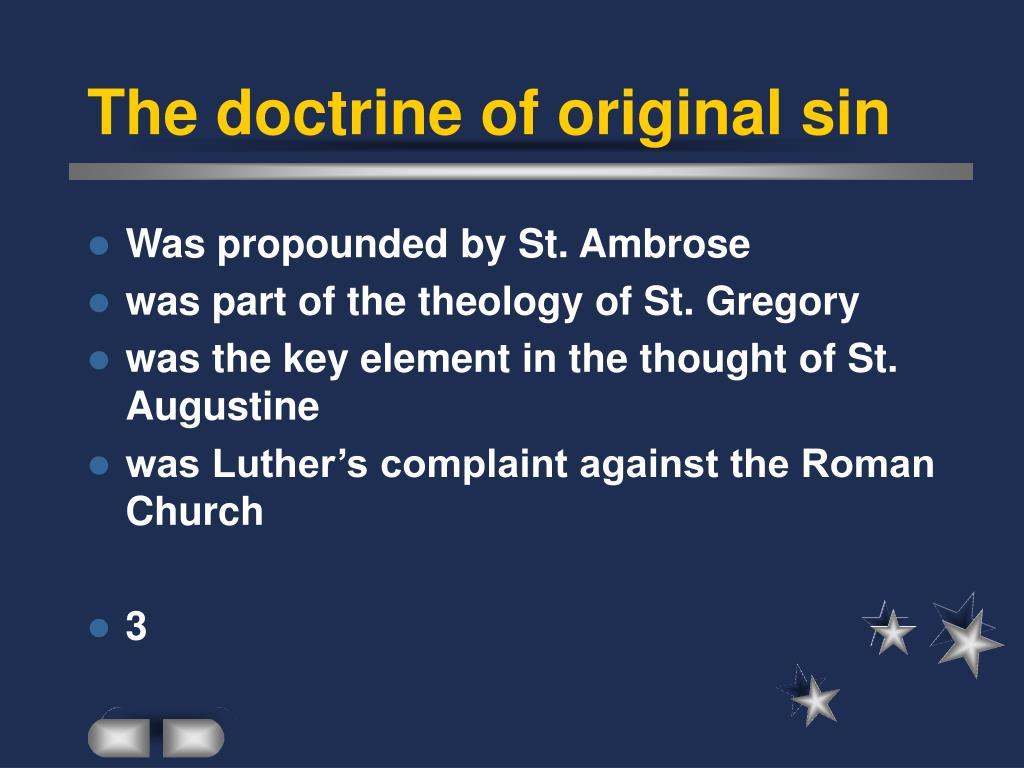 The doctrine of original sin