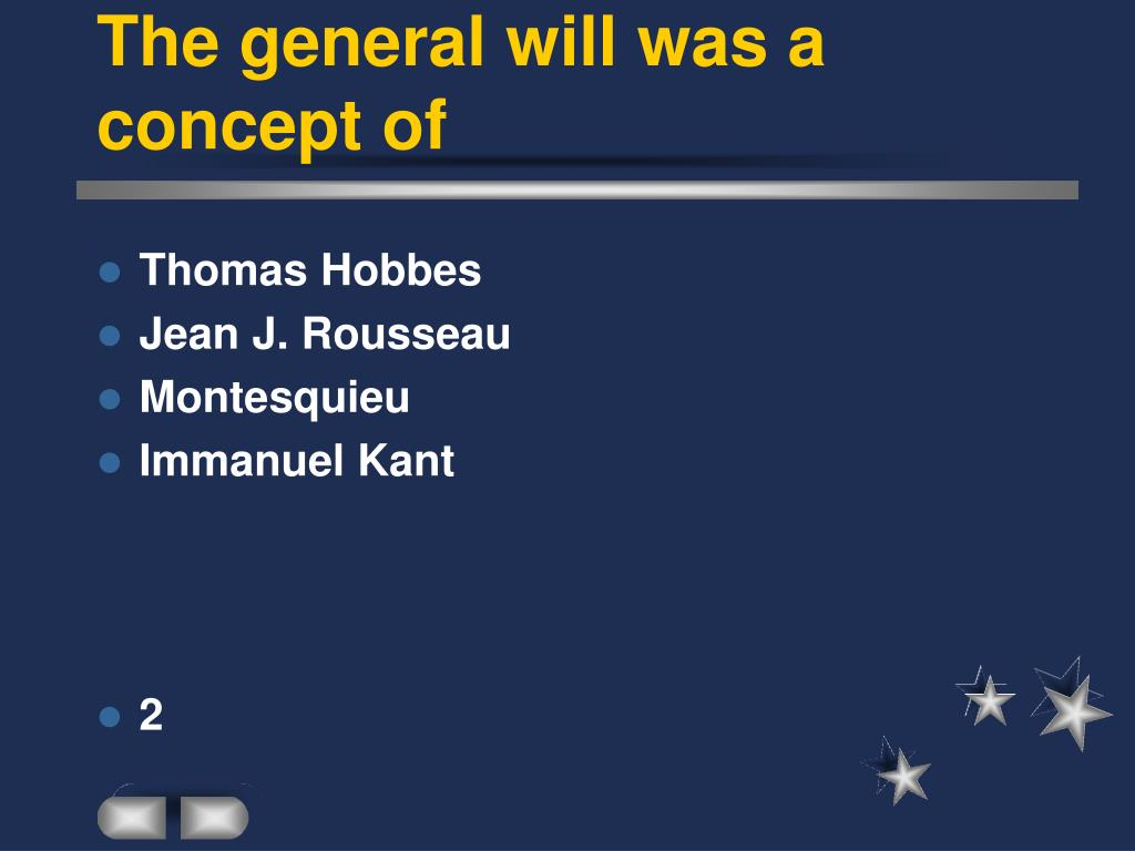 The general will was a concept of