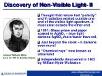 discovery of non visible light ii