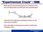 experimentum crucis 1666