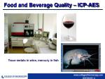 food and beverage quality icp aes