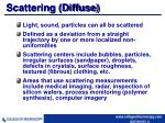 scattering diffuse