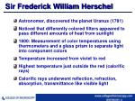 sir frederick william herschel