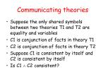 communicating theories