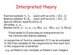 interpreted theory