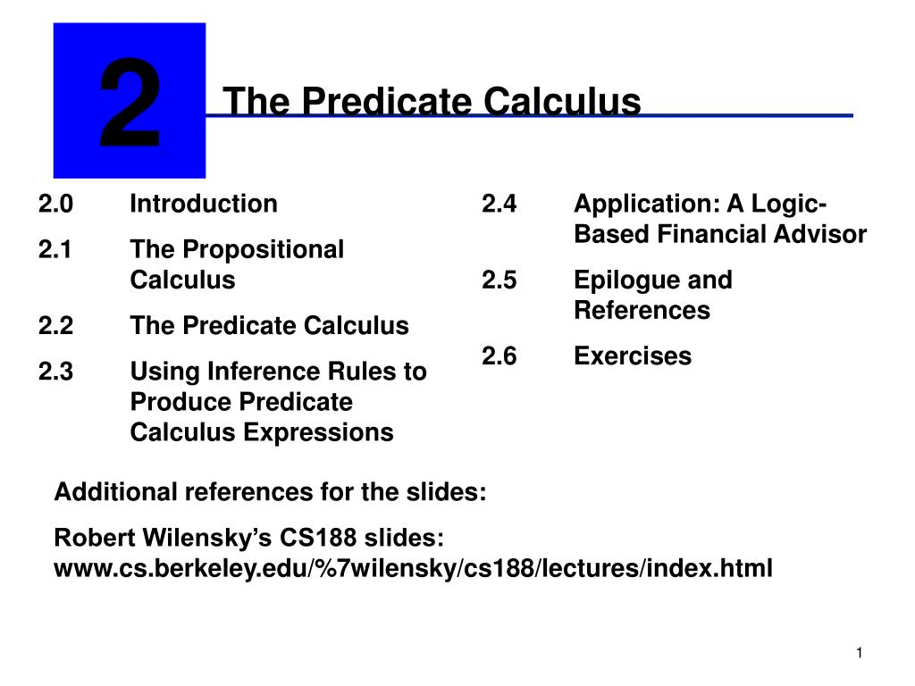 the predicate calculus l.