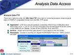 analysis data access
