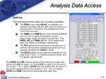 analysis data access16