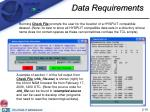 data requirements10
