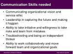 communication skills needed