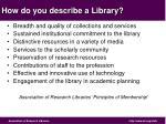 how do you describe a library