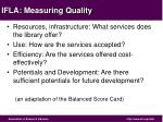 ifla measuring quality